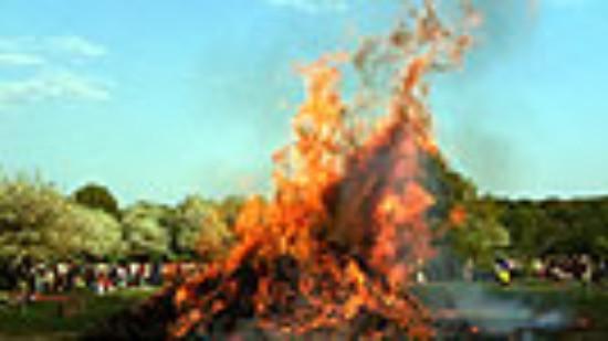 Osterfeuer der SPD auf der Alten Bult