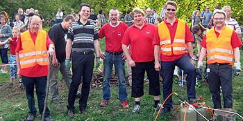 von links: Helmut Jäkel, Alptekin Kirci, Lothar Pollähne,  Ewald Nagel und Thomas Hermann