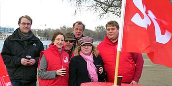 Rote Impressionen vom Silvesterlauf 2012