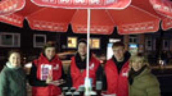 Kaffee für den Wechsel: schwarz trinken - rot wählen!