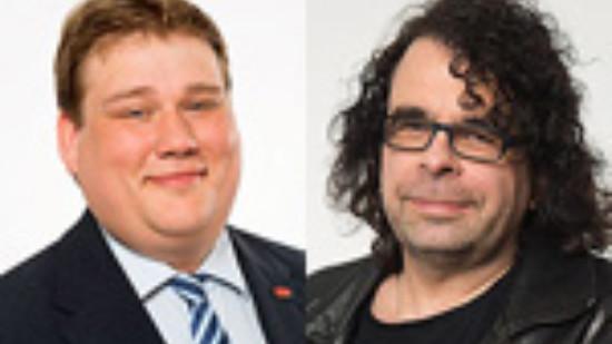 Der Vorsitzende des SPD Ortsvereins, Frank Straßburger, und der Vorsitzende der SPD Bezirksratsfraktion Südstadt-Bult, Roland Schmitz-Justen