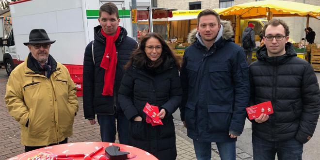 Infostand des SPD-Ortsvereins Südstadt-Bult