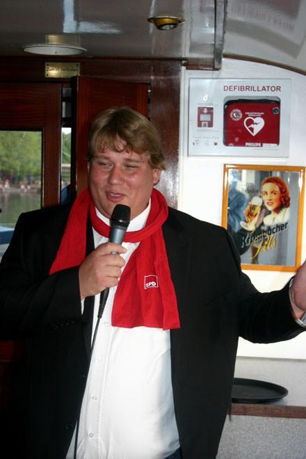 Gut gelaunter Gastgeber: OV-Vorsitzender Frank Straßburger