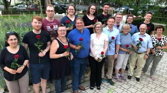 Gruppenfoto des neugewählten Vorstands