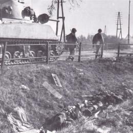 Tote Soldaten an der Harenberger Straße am 10. April 1945, Landesbildstelle Hannover