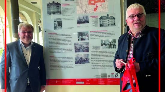 Gedenktafel | Zentrum der Arbeiterbewegung: Gewerkschaftshaus und Volksheim