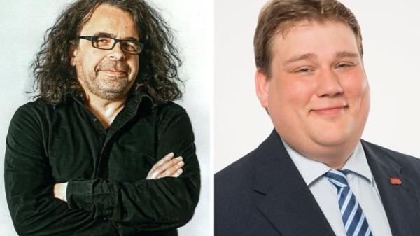 Der Vorsitzende der SPD-Bezirksratsfraktion, Roland Schmitz-Justen und der Vorsitzende des SPD-Ortsvereins Südstadt-Bult, Frank Straßburger