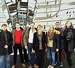 Jusosgruppe mit Edelgard Bulmahn im Deutschen Bundestag