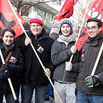 Jusos demonstrieren gegen rechte Gewalt in Hannover