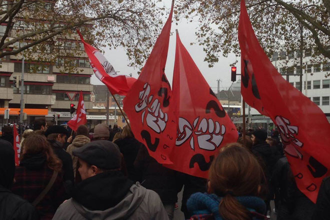 """""""HogeSa""""-Gegendemonstration: Jusos Südstadt-Bult beteiligen sich am Protestzug durch die Innenstadt"""