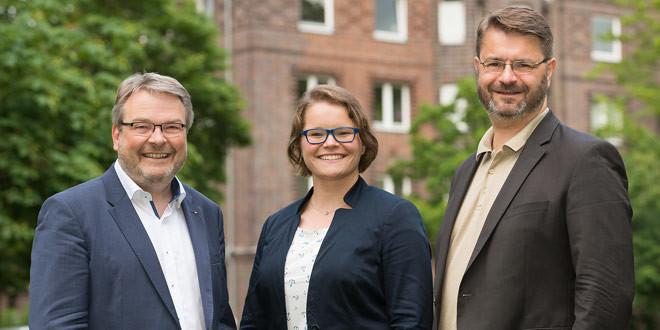 Unsere Kandidatinnen und Kandidaten für den Stadtrat der Landeshauptstadt Hannover: Thomas Hermann, Dr. Maxi Ines Carl und Ewald Nagel