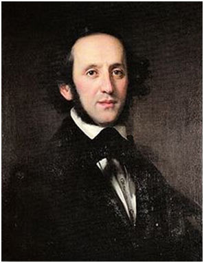 Felix Mendelssohn Bartholdy 1846, Ölporträt von Eduard Magnus, Quelle: Staatsbibliothek Preussischer Kulturbesitz, Berlin