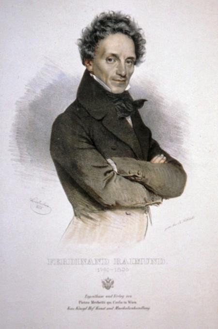 Ferdinand Raimund: Lithographie von Joseph Kriehuber 1835