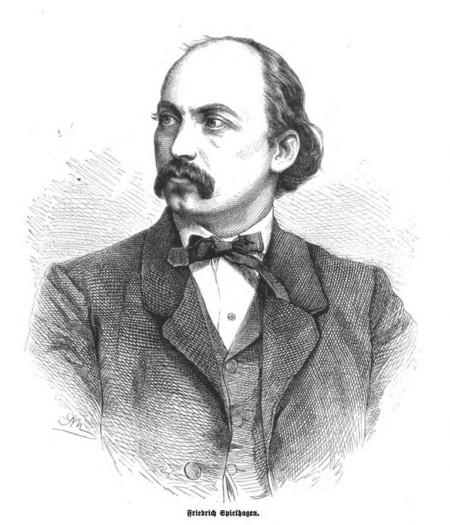 Friedrich Spielhagen, Grafik von Adolf Neumann, 1867