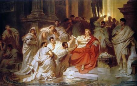Carl von Piloty: Die Ermordung Cäsars, 1865, Landesmuseum Hannover
