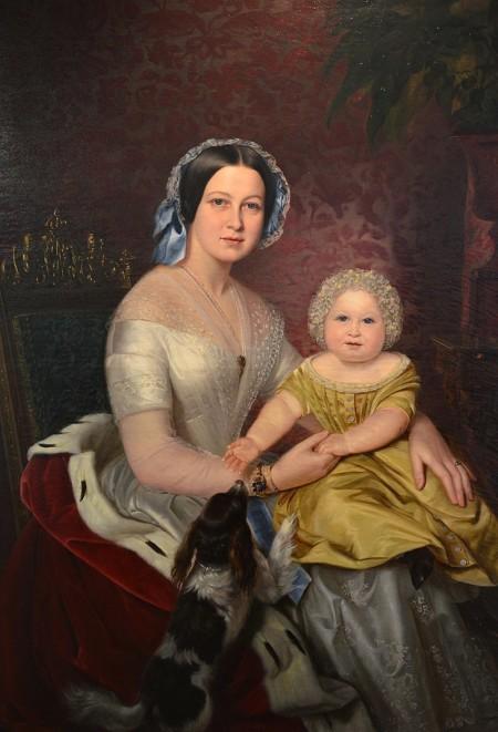 Gemälde von Königin Marie von Hannover und Kronprinz Ernst August