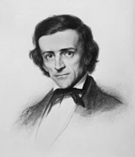 Bildnis Mommsen, Stich von Louis Jacoby, 1865