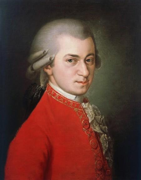 Wolfgang Amadé Mozart, postumes Gemälde von Barbara Krafft, 1819